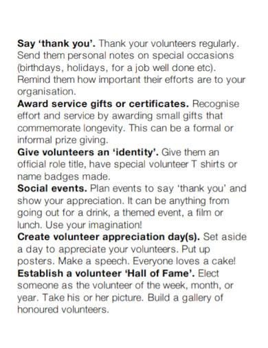 thanking volunteer appreciation speech