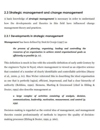 university change management strategy