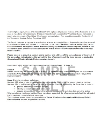 warehouse incident report template