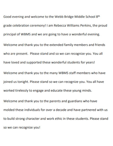 welcome speech for school template