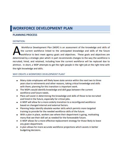 workforce development plan template
