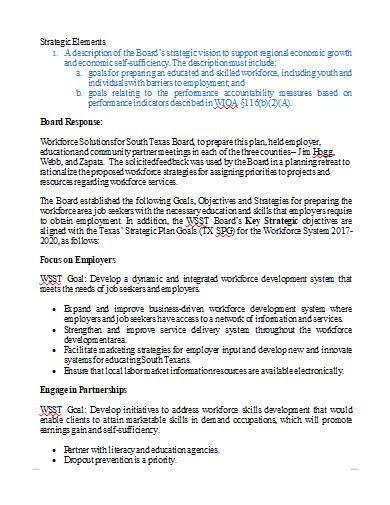 workforce development plan in doc