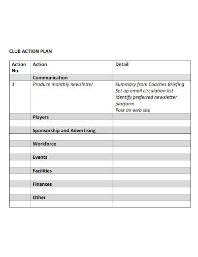 basic club action plan