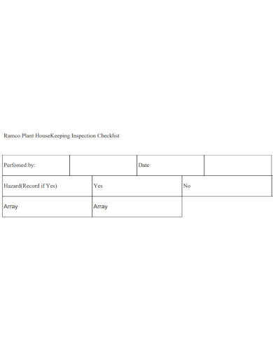 basic housekeeping inspection checklist