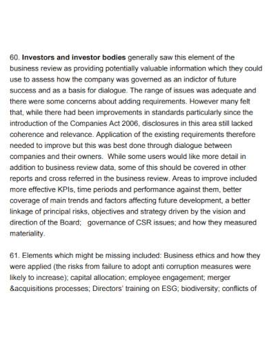 business narrative report template