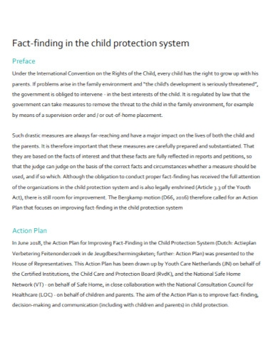 child protection system action plan