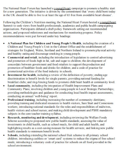 childrens nutrition action plan