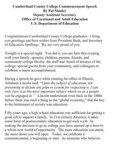 college graduates commencement speech 1