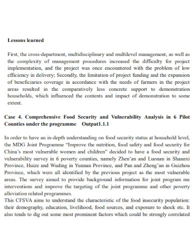 comprehensive narrative final report