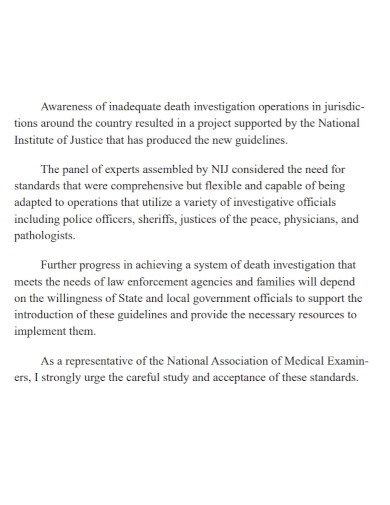 death investigation research report