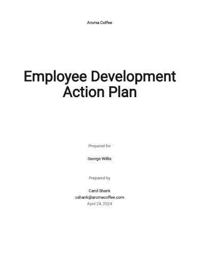 employee development action plan template
