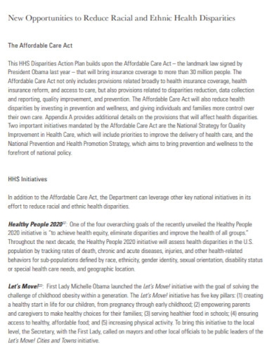 ethnic health care action plan