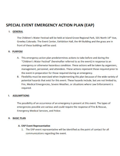 event action plan in pdf