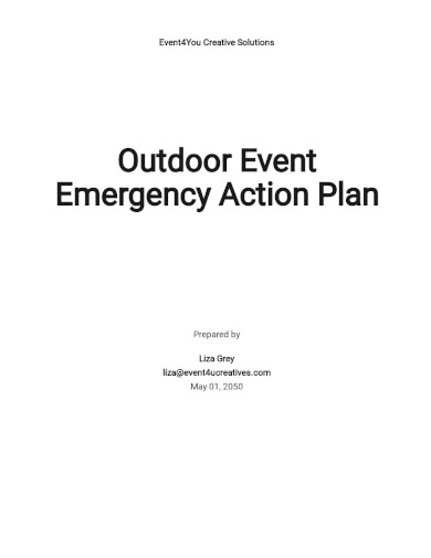 event emergency action plan template