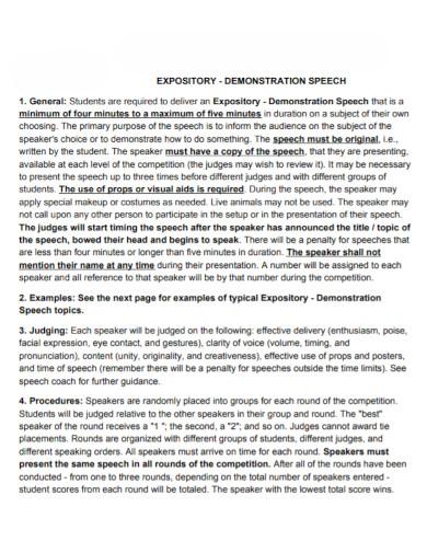 expository demonstration speech