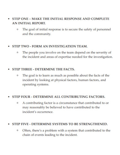 general incident investigative report
