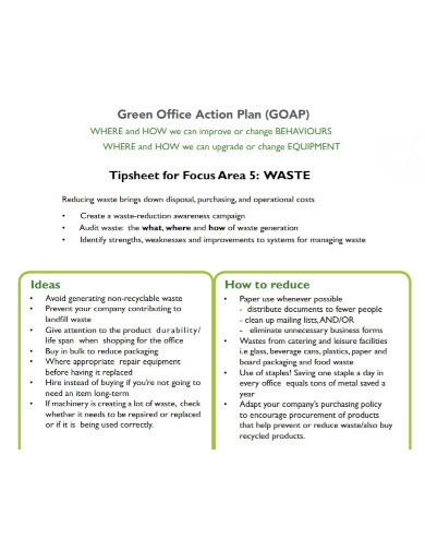 green office action plan