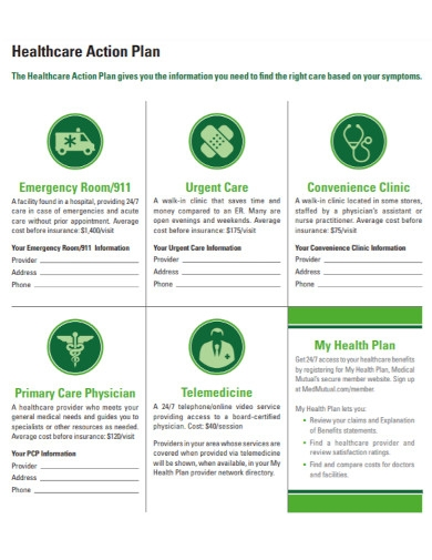 health care action plan template