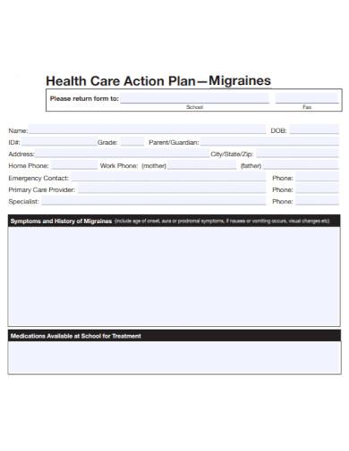 health care migraines action plan