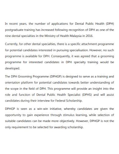 health grooming narrative report
