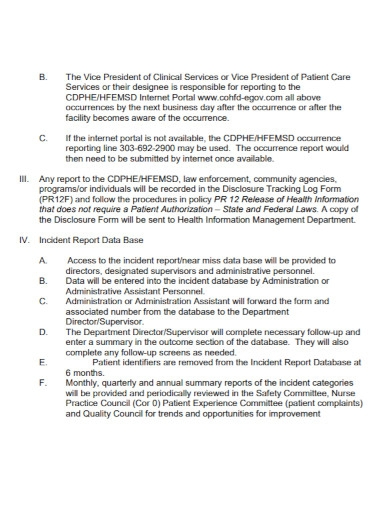 hospital incident report in pdf