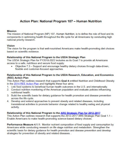 human nutrition action plan