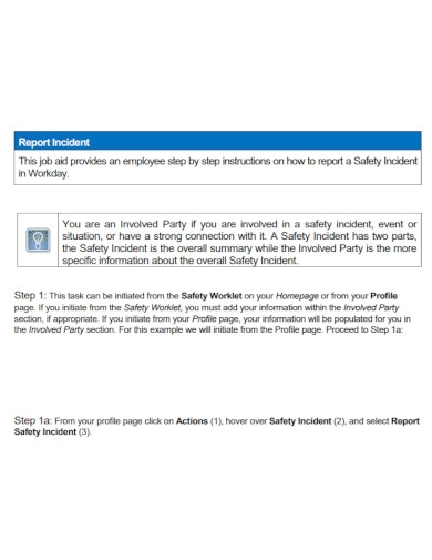 job safety incident report