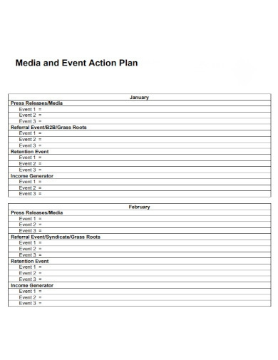 media and event action plan