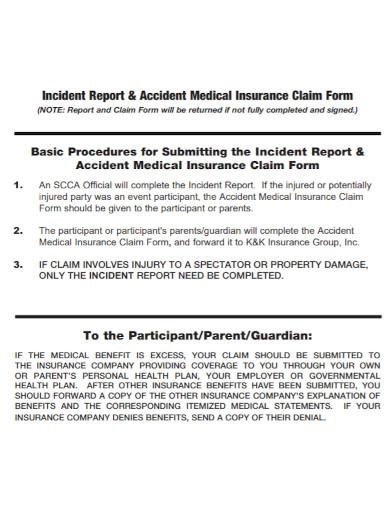 medical insurance incident report