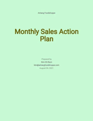 monthly action plan template