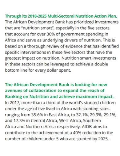 multi sectoral nutrition action plan