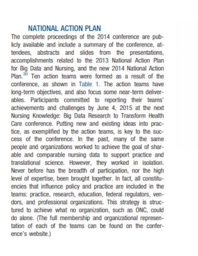 national nursing action plan