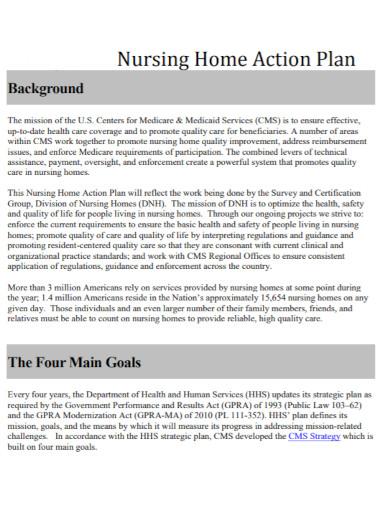 nursing home action plan