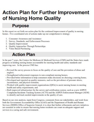 nursing improvement action plan