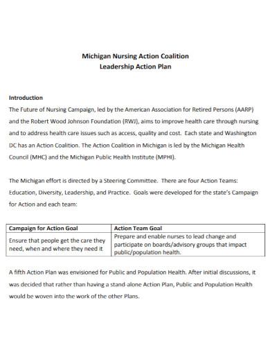 nursing leadership action plan