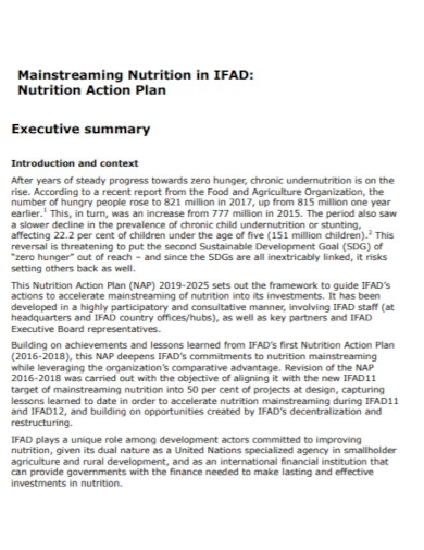 nutrition action plan in pdf