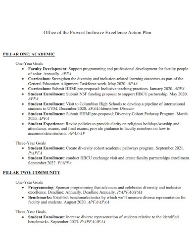 office excellence action plan