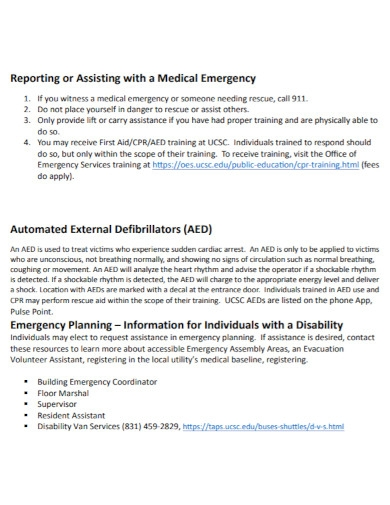 office of emergency action plan