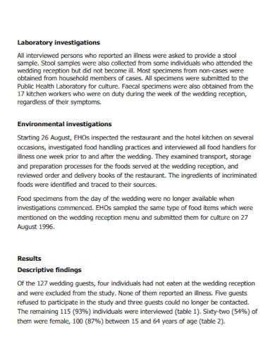 outbreak investigation report template