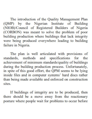 printable project quality management plan