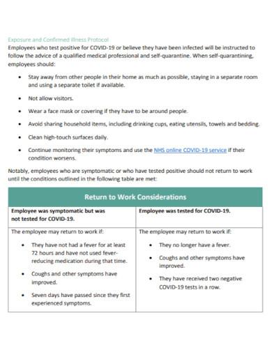 professional return to work action plan