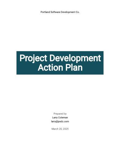 project development action plan template