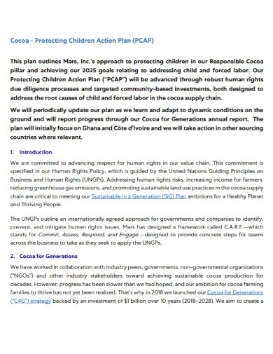 protecting children action plan