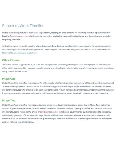 return to work action plan template