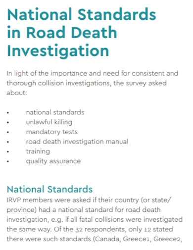 road death investigation report