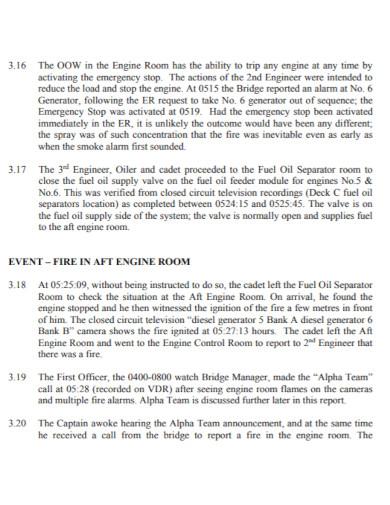 room fire investigation report