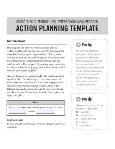 school nutrition action plan