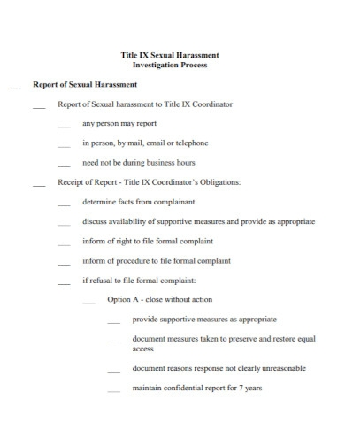sexual harassment investigation report