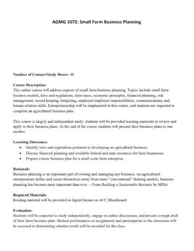 small farm business plan template
