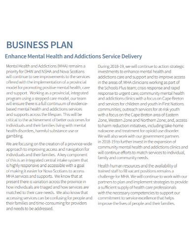 standard mental health business plan1